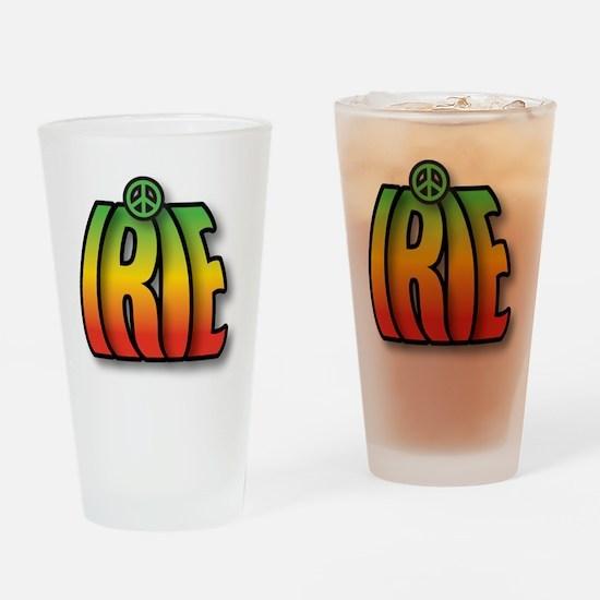 IRIE PEACE Drinking Glass