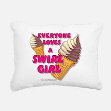 Swirl Girl Rectangular Canvas Pillow