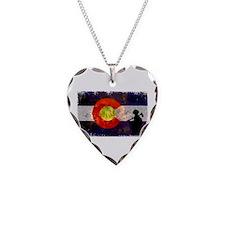 Firefighter Colorado Flag Necklace