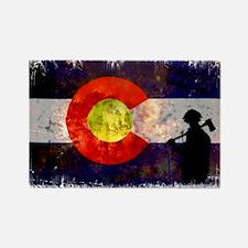Firefighter Colorado Flag Rectangle Magnet