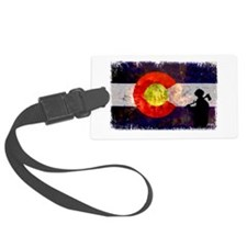 Firefighter Colorado Flag Luggage Tag