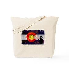 Firefighter Colorado Flag Tote Bag