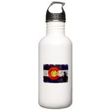 Firefighter Colorado Flag Sports Water Bottle