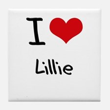 I Love Lillie Tile Coaster