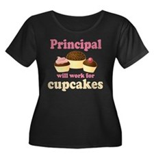 Funny Principal Cupcake Plus Size T-Shirt