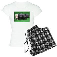 4 micro pigs in a row pajamas