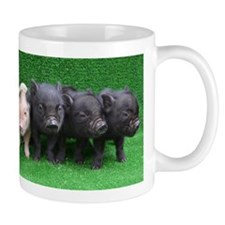 4 micro pigs in a row Small Small Mug