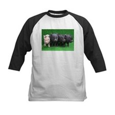 4 micro pigs in a row Baseball Jersey