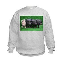 4 micro pigs in a row Sweatshirt
