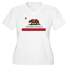 Vector California Republic Plus Size T-Shirt