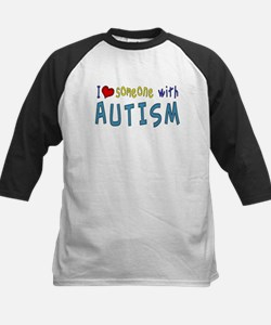 I love someone with Autism Baseball Jersey