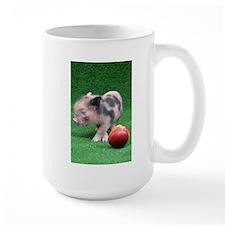Baby micro pig with Peach Mug