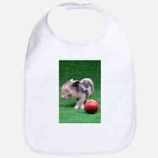 Baby micro pig with Peach Bib