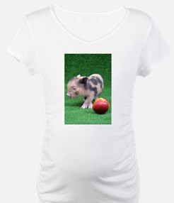 Baby micro pig with Peach Shirt