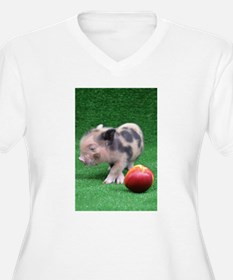 Baby micro pig with Peach Plus Size T-Shirt