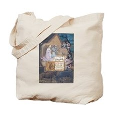 Medieval Nativity Scene Tote Bag
