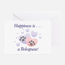 Happiness is...a Bolognese Greeting Cards (Package