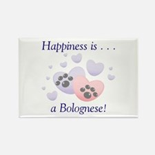 Happiness is...a Bolognese Rectangle Magnet (10 pa