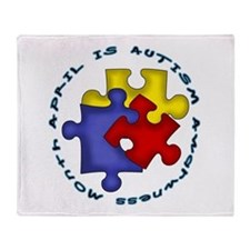 April is Autism Awarness Month Throw Blanket