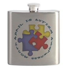 April is Autism Awarness Month Flask