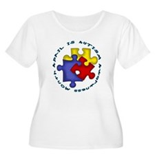 April is Autism Awarness Month Plus Size T-Shirt