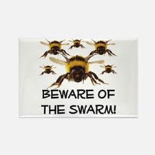 Beware Of The Swarm Rectangle Magnet