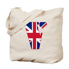 UNION JACK MONOGRAM Letter V Tote Bag