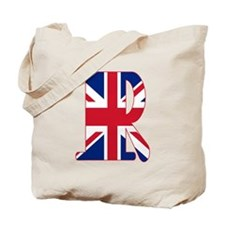 UNION JACK MONOGRAM Letter R Tote Bag