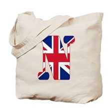 UNION JACK MONOGRAM Letter N Tote Bag