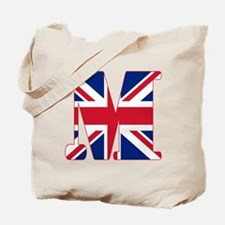 UNION JACK MONOGRAM Letter M Tote Bag