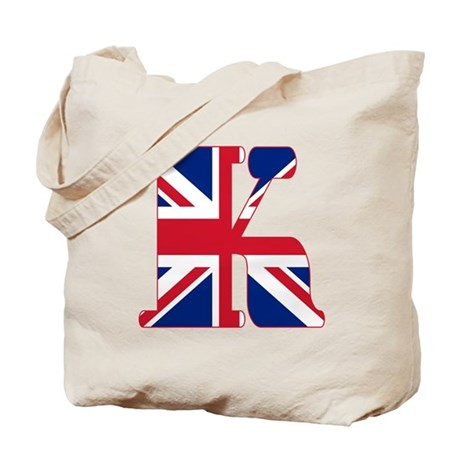 UNION JACK MONOGRAM Letter K Tote Bag