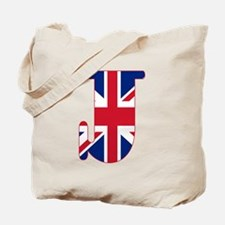 UNION JACK MONOGRAM Letter J Tote Bag
