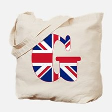 UNION JACK MONOGRAM Letter G Tote Bag