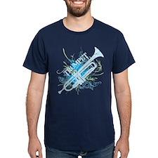 Cool Grunge Trumpet Dark T-Shirt