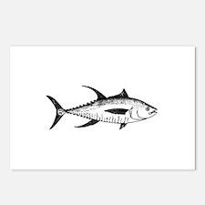 Yellowfin Tuna Logo (line art) Postcards (Package