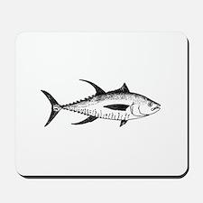 Yellowfin Tuna Logo (line art) Mousepad