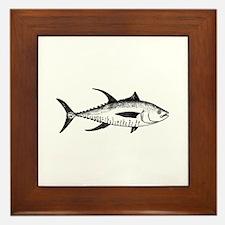 Yellowfin Tuna Logo (line art) Framed Tile