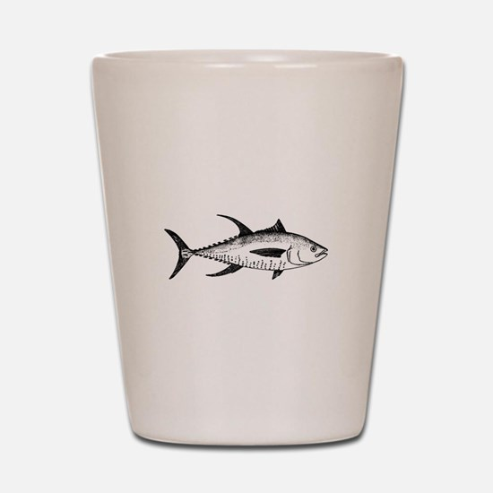 Yellowfin Tuna Logo (line art) Shot Glass