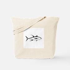 Yellowfin Tuna Logo (line art) Tote Bag