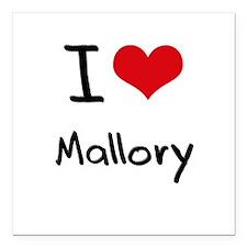 "I Love Mallory Square Car Magnet 3"" x 3"""
