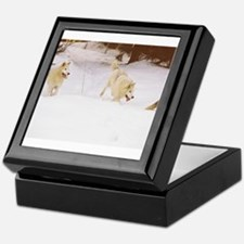 """""""Three Important Wolves Of The Pack"""" Keepsake Box"""
