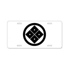 Tilted four-square-eyes in circle Aluminum License