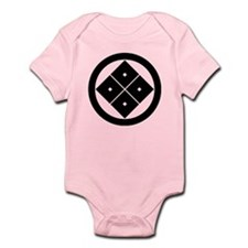 Tilted four-square-eyes in circle Onesie
