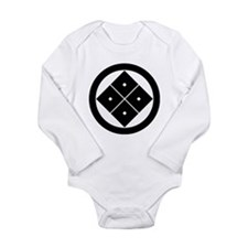 Tilted four-square-eyes in circle Onesie Romper Suit