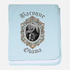 Baroque Obama baby blanket