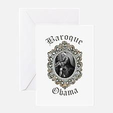Baroque Obama Greeting Card