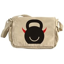 Happy Kettlebell with horns Messenger Bag