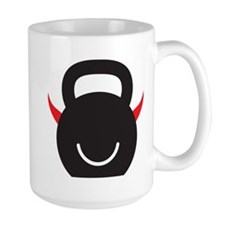 Happy Kettlebell with horns Mug