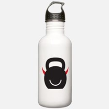 Happy Kettlebell with horns Water Bottle