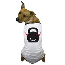 Happy Kettlebell with horns Dog T-Shirt